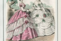 1860's Evening Gowns & Formal Wear