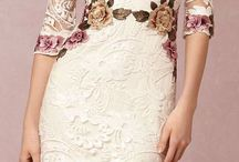 embroidery floral dress lace