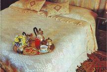 Colcha, Cama, Mesa, Banho em Renda, Filé... / Bedspread, Bed, Table, Bath in Lace Filet ...