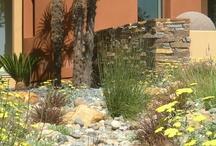 Garden dry stream bed