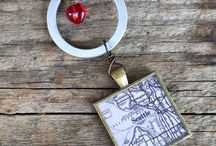 vintage map jewelry & accessories