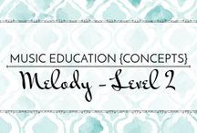 Melody Level 2 - Music Education {Concepts} / Songs, activities, strategies, and resources to teach do, re, low la, and low so.