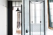 Iron Glass Wall Shower