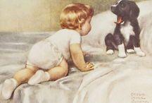 podge child & dog