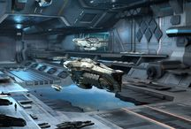 Science Fiction Space Dock