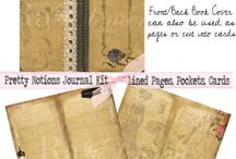Ra Element Vintage Journal Printables / A collection of printable journals I have created for digital download.