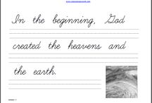 Homeschool - Handwriting
