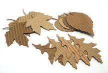 Осень, листья, идеи, поделки.