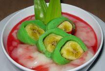 bubur pisang hijau