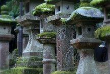 Japan stone lamp