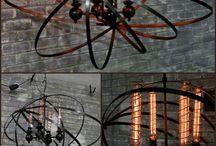 chandeliers, lamps & lights
