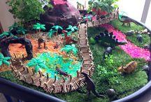 fairy gardens -dinos
