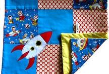 Rocket retro fabric