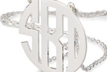 Silver Monogram Necklace / Collection of personalized silver monogram necklaces