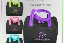 Lunch totes / Insulated, drawstring, zippered closure small big large lunch tote bags with and without handles.