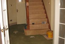 Wooden Stairs / Client: Private Residence In North London. Brief: To supply and install a wood floor.