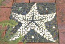 Fliesen mit Mosaik