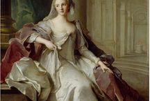 Vestal virgin costume in 18th century