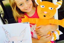 Pehmolelu lapsen piirustuksesta