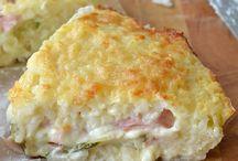 torta di riso con zucchine prosciutti e formaggio