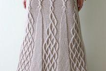 štrikovaná sukňa