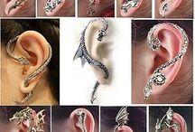 gotik hayvan figürü kulak kelepceleri