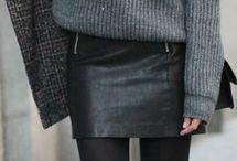 winter mini skirt