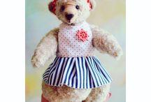 Handmade toy / Маленькая Мишка Дейзи :)