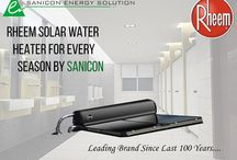 Water Heaters / Best Solar Water Heater/Geyser manufactured by Rheem,US Energy Star Certified with 7 Yrs tank Warranty By Sanicon Energy Solution Delhi India