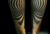 Dotwork geomatric tattoo