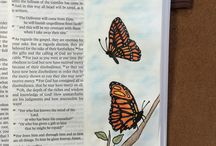 Bible Art Journalling / I am in awe of people who have shared their talents.  Thank you...Using art in wide margin Bibles to highlight and illustrate the text. / by Glenice B