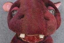 Hippos / Chatham Village Artist Bears, Hippos and Art Dolls