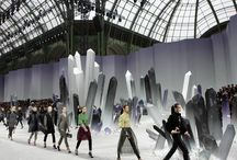 Behind Scenes: runway set   backstage   exhibition   store   window display
