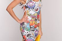 Comic Book Prints / When worn the right way, comic book printed items can definitely create a cool and eye catching outfit! This trend is also very comfy without looking sloppy. Comic book prints are bright, bold, and in your face which makes them a really fun fashion statement. If you're looking for something to make you stand out from the rest, this trend is the perfect choice for you.