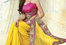 Printed Sarees / Buy Latest Style Sarees, Designer Sarees, Bollywood Sarees Online in India. Huge range of Printed Sarees at IndianSanskriti.com