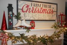 Christmas Mantels / Beautiful mantels decorated for Christmas