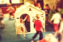 1domek wewnątrz/ design for kids / 1domek zrealizowany w przedszkolu
