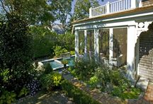This old house / A screen porch and pool to an in town residence once featured on This Old House television show