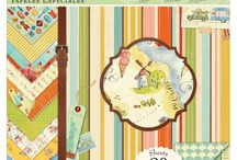 Around the World / Papers and embellishments designed by Brenda Walton for K&Company