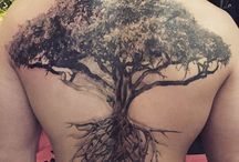 BACK TATTOO TREE AND COMPLEMENTS