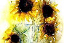 Sunflower cover Tattoo Design