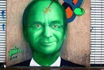 Henk Kamp, Schaliegas Protest / Henk Kamp, Schaliegas, Protest, Streetart, Public, Art, Kunst, Political, LjvanT, Lj van Tuinen, Leeuwarden, VVD