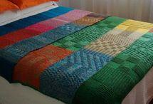 pie de cama de lana