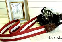 Lusikka stylish stripe camera strap / stylish stripe camera stripe