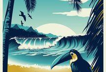 Travel America / Plakátok, Utazás régen, Városok, Országok