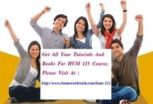 HUM 115 Study Materials For DeVry University