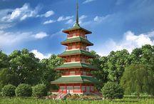 Japanese Jagoda / Japanese Pagoda Architecture Design