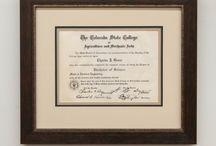 Framed Diplomas & Certificates