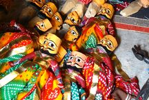 Puppet Making in India / Come on a Colouricious textile holiday to meet real people doing real things. If you love to get away, off the beaten track you will really enjoy a Colouricious holiday. To find the holiday of your choice, go to http://colouricious.com/textile-art-holidays-trips/