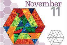 Quilting in Hexagon Patterns